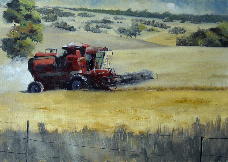 Wheat Harvester at Boorowa - Click Image to Close