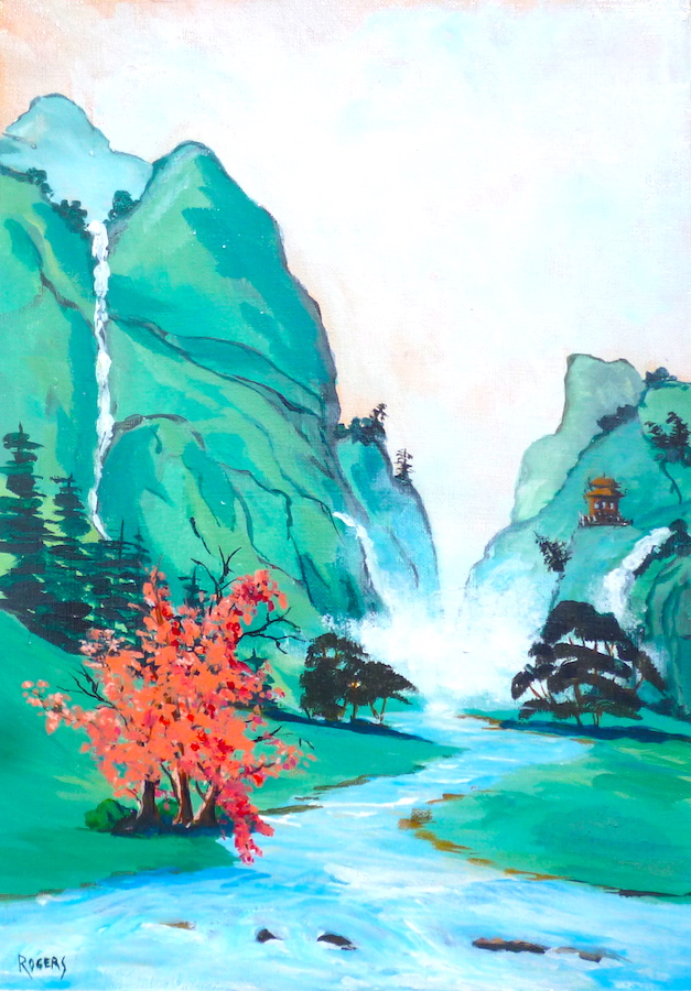Chinese Mountain and Stream