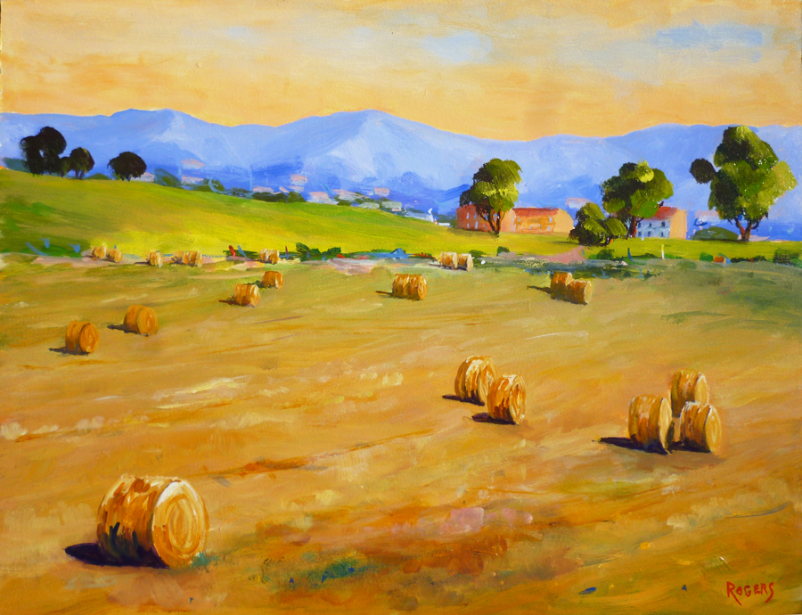 Hay Bales in Tuscan fields
