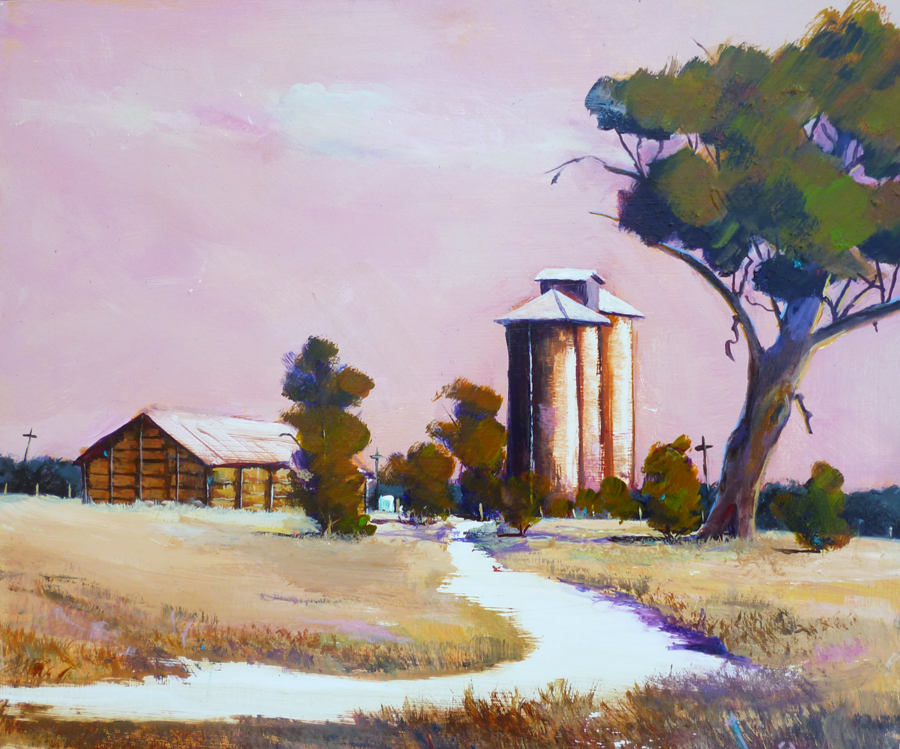 Hayshed and Silos No 2