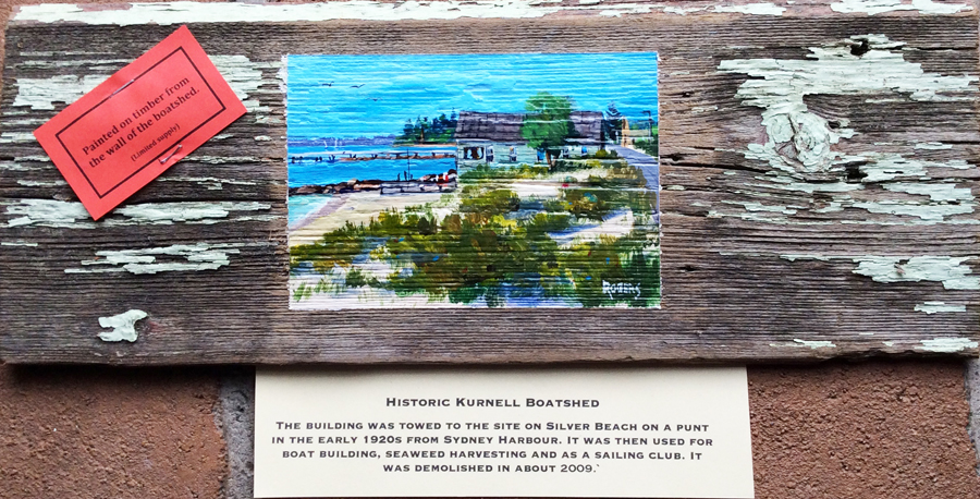 Historic Kurnell Boatshed No 7 on original wood