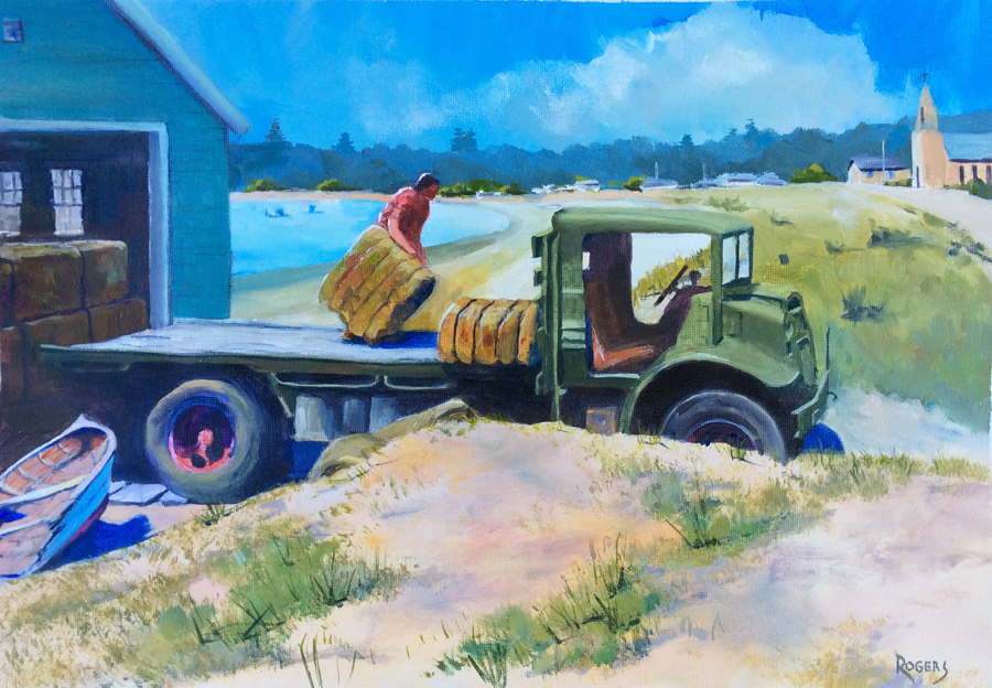 Historic Kurnell Boatshed and truck - Click Image to Close