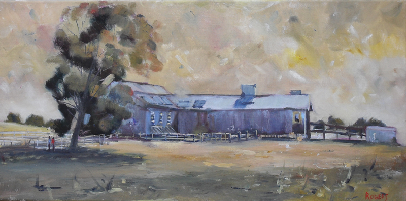 Old Shearing Shed towards Broken Hill