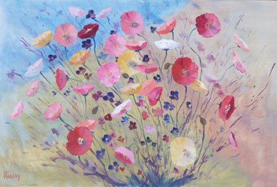 Poppies Diptych part no 1