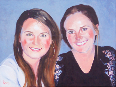 Portrait of two sisters - Click Image to Close