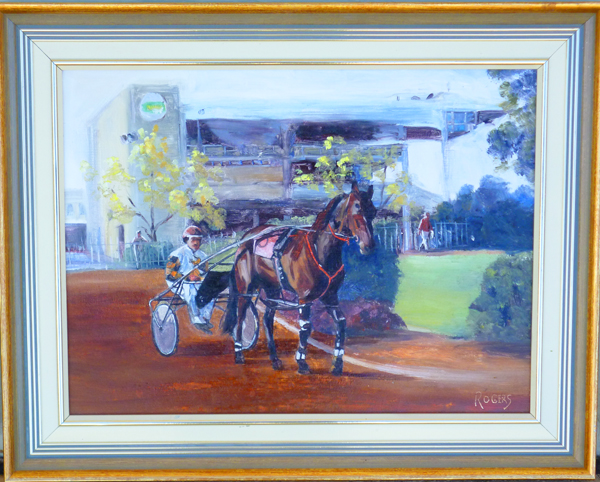 Race day at Bankstown Paceway - Click Image to Close