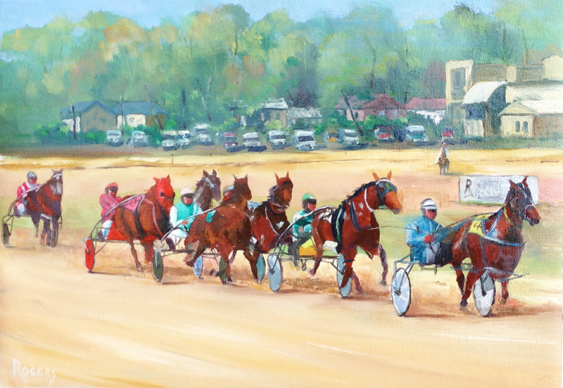 "Bankstown Harness Racing - ""In the Straight"""