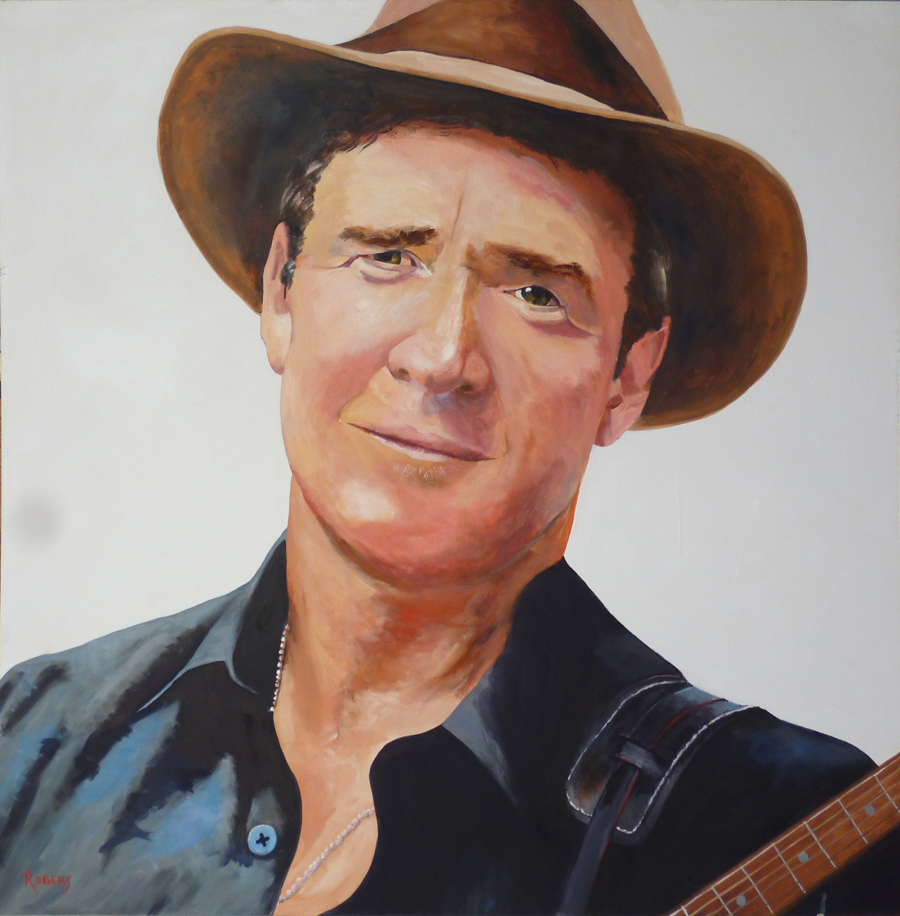 Portrait of acclaimed Country Music singer Luke O'Shea